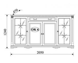 Rustikálna vitrína Orfeusz O-K6 - toffi
