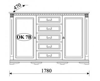 Rustikálna komoda Orfeusz O-K7B - toffi