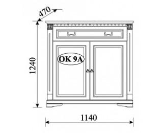 Rustikálna komoda Orfeusz O-K9A - toffi