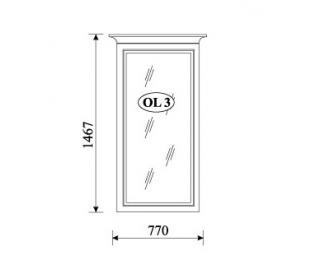 Rustikálne zrkadlo na stenu Orfeusz O-L3 - toffi