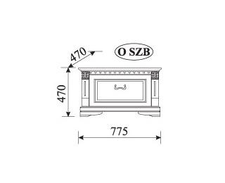 Rustikálny nočný stolík Orfeusz O-SZB - toffi