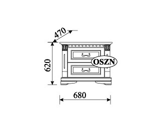 Rustikálny nočný stolík Orfeusz O-SZN - toffi