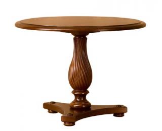 Rustikálny okrúhly jedálenský stôl Prato ZB-3 - višňa 02