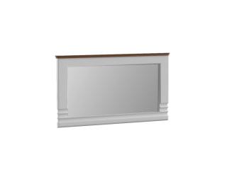 Zrkadlo na stenu Torino TO-L1 - biely vysoký lesk / dub Torino