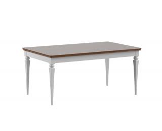 Rozkladací jedálenský stôl Torino TO-S1 - biely vysoký lesk / dub Torino