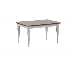 Konferenčný stolík Torino TO-S2 - biely vysoký lesk / dub Torino