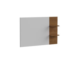 TV panel na stenu Torino TO - biely vysoký lesk / dub Torino
