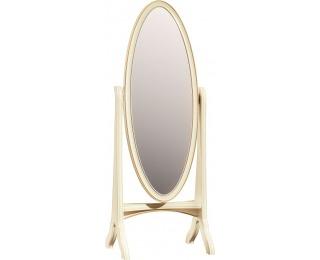 Rustikálne stojace zrkadlo Verona V - krém patyna