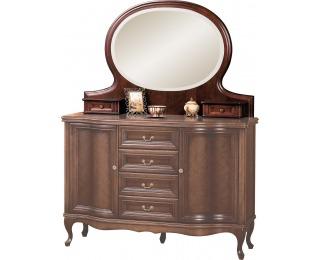 Rustikálne zrkadlo (nadstavba) Wersal W-NL - wenge