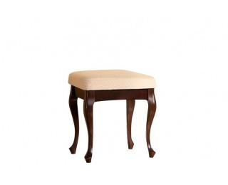 Rustikálna taburetka Wersal W - wenge / béžový vzor (A4 1013)