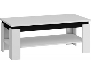 Konferenčný stolík Beta - biela / čierny lesk