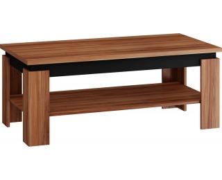 Konferenčný stolík Beta - slivka / čierny lesk