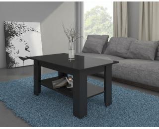 Konferenčný stolík Elaiza - čierny mat / čierny vysoký lesk