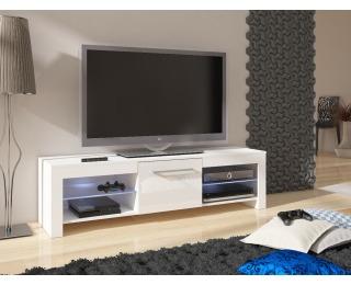 TV stolík Flex - biela / biely vysoký lesk