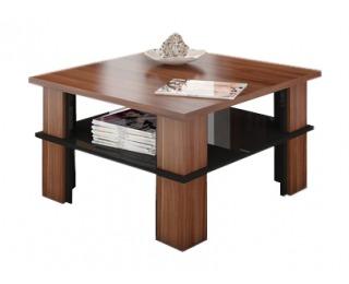 Konferenčný stolík Futura 1 - slivka / čierny lesk