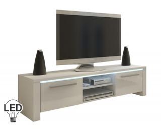 TV stolík Helix - biela / biely vysoký lesk