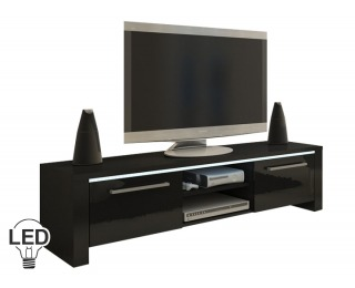 TV stolík Helix - čierna / čierny vysoký lesk