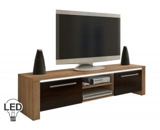TV stolík Helix - sonoma svetlá / sonoma tmavá