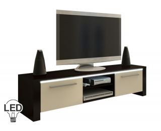 TV stolík Helix - wenge / krém
