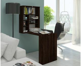 Rozkladací písací stolík s regálom Hide - sonoma tmavá
