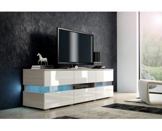 TV stolík Inter - dub sonoma / biely lesk
