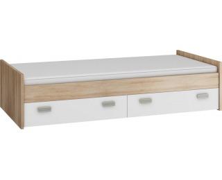 Jednolôžková posteľ s roštom Kitty KIT-04 - sonoma svetlá / biela