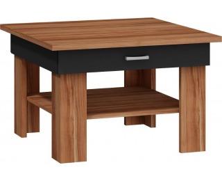 Konferenčný stolík Omega - slivka / čierny vysoký lesk