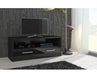 TV stolík Tirana - čierna / čierny vysoký lesk