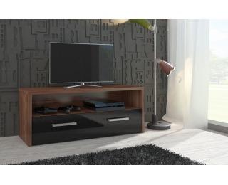 TV stolík Tirana - slivka / čierny vysoký lesk