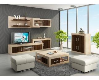 Obývacia izba Verin - sonoma svetlá / sonoma tmavá