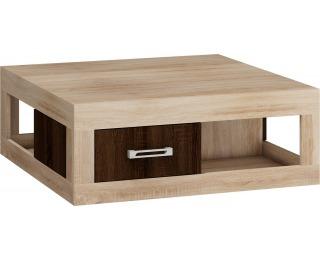 Konferenčný stolík Verin - sonoma svetlá / sonoma tmavá