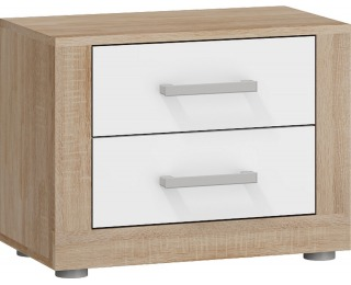 Nočný stolík Viki VIK-14 - sonoma svetlá / biely lesk
