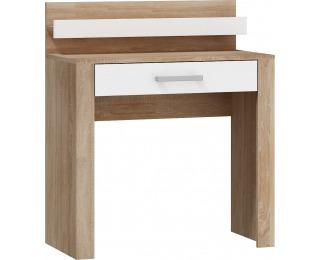 Toaletný stolík Viki VIK-15 - sonoma svetlá / biely lesk