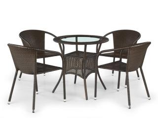 Záhradný stolík Midas - tmavohnedá