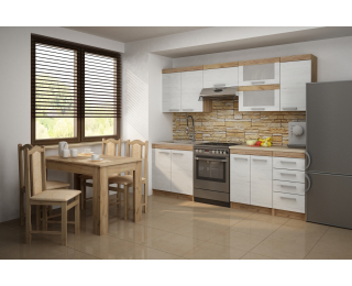 Kuchyňa Milo - craft biely / craft zlatý