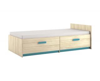 Detská posteľ s roštom Best 17 90 - breza / atlantic