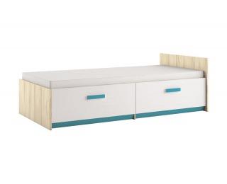 Detská posteľ s roštom Best 17 90 - breza / biela linea / atlantic