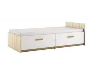Detská posteľ s roštom Best 17 90 - breza / biela linea / dub divoký