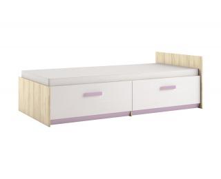 Detská posteľ s roštom Best 17 90 - breza / biela linea / levanduľová