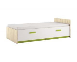 Detská posteľ s roštom Best 17 90 - breza / biela linea / limetková