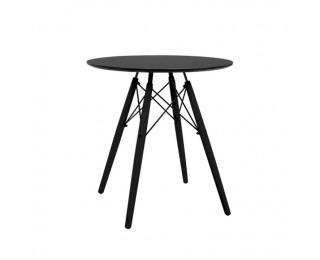 Okrúhly jedálenský stôl Monty - čierna