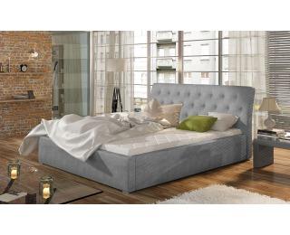 Čalúnená manželská posteľ s roštom Monzo UP 140 - svetlosivá (Paros 05)