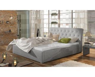 Čalúnená manželská posteľ s roštom Monzo 160 - svetlosivá (Sawana 21)