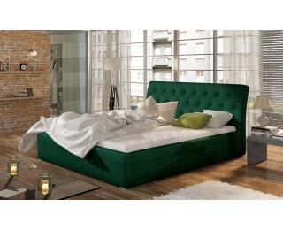 Čalúnená manželská posteľ s roštom Monzo 200 - tmavozelená