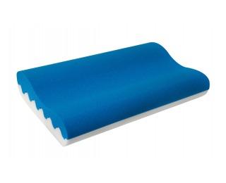 Anatomický vankúš Blue 90 - modrá / biela