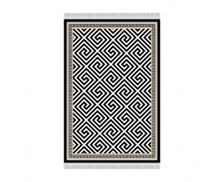 Koberec Motive 160x230 cm - čierna / biela