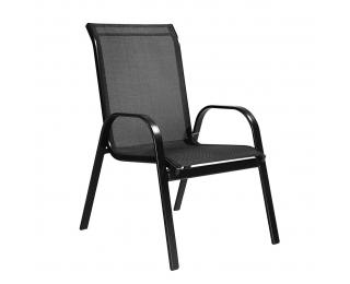 Záhradná stolička Arkadia - čierna