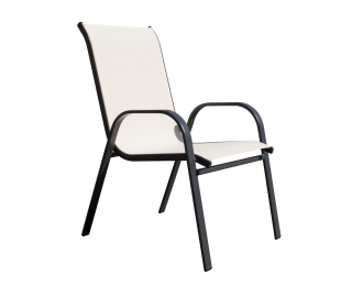Záhradná stolička Arkadia - čierna / béžová