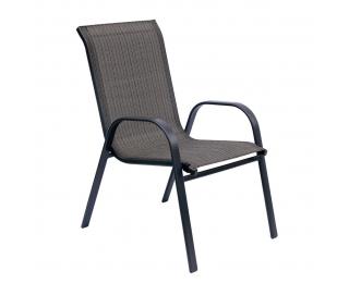Záhradná stolička Arkadia - grafit / sivohnedá