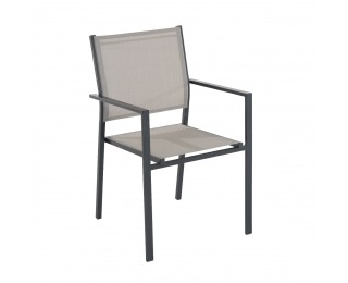 Záhradná stolička Axel - tmavosivá / taupe